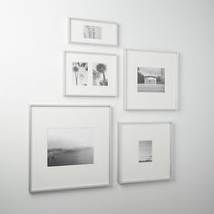 gallery brushed silver picture frames cb2