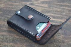 This item is unavailable Leather Card Wallet, Men Wallet, Leather Pouch, Leather Wallets, Custom Leather Belts, Leather Men, Sewing Leather, Leather Craft, Leather Duffle Bag