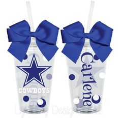 Dallas Cowboys Fan Inspired Personalized 16oz  Acrylic Tumbler.