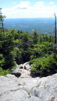 View From The White Dot Trail on Mt. Monadnock in New Hampshire