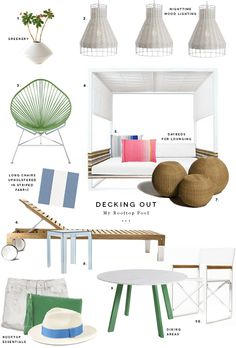 Decorating for urban rooftops: If I could redecorate my building's rooftop deck, it would look a little something like this. My Building, Rooftop Deck, Rooftops, Mudroom, Garden Inspiration, Beach House, Feels, New Homes, Woodworking