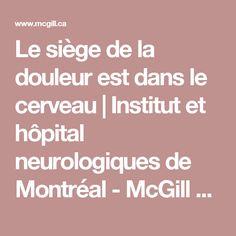 Le siège de la douleur est dans le cerveau | Institut et hôpital neurologiques de Montréal - McGill University