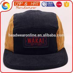 2015 hot 5 panels Snapback Flat Brim Custom corduroy caps and hats