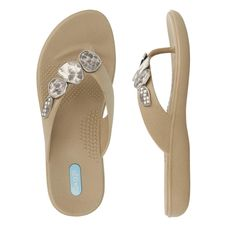 69248e0db057b Myla Flip Flop Sandal Shoes by OkaB Color Chai with Cream Reptile Strand    Do hope