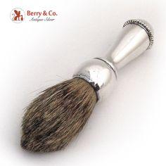 Shaving Brush 1910 Beaded Rim Sterling Silver