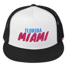 Classic trucker cap style with a cool fabric blend. Cool Fabric, Miami Florida, Snapback Hats, Ted, Clothes, Style, Fashion, Outfits, Swag