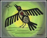 Crow is an omen of change. Crows live in the void and have no sense of time, therefore being able to see past, present and future simultaneously. They unite both the light and the dark, both the inner and the outer. Crow is the totem of the Great Spirit and must be held with utmost respect. They are representations of creation and spiritual strength.