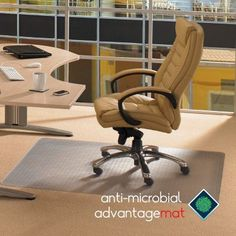 Floortex Advantagemat Rectangular Chair Mat for Standard Pile Carpets - FRAB119026EV, Durable
