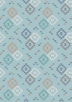Lewis & Irene To Catch a Dream Patchwork Quilting Fabric Triangle Print on Light Blue Triangle Print, Cotton Quilting Fabric, Irene, Hand Embroidery, Dream Catcher, Light Blue, Handmade Items, Colours, Quilts