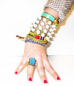 Beaded Embellishments, staked bracelets, Love it!