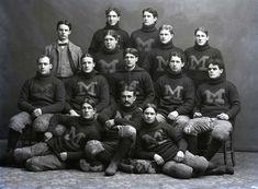 University of Michigan football team - 1897 Colleges In Michigan, Eastern Michigan University, Michigan Go Blue, University Of Miami Hurricanes, Michigan Wolverines Football, College Football Playoff, Vintage Football, Team Photos, Athletics