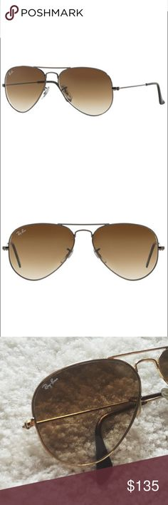 Ray-Ban original aviators (RB3025 62) ⋈ RayBan (raybans) Classic Aviators - RB3025 62 ORIGINAL AVIATOR GRADIENT COLLECTION ⋈ STYLE: AVIATOR/PILOT ⋈ FRAME MATERIAL: METAL, LENS MATERIAL: GLASS ⋈ Does not come with case ⋈ FIT: LARGE, EYE SIZE: 62, BRIDGE/TE