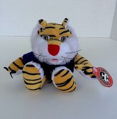 New (1998) LSU Mike the Tiger Mascot Campus Critters Bean Animal