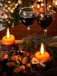 Candlelight and wine – Christmas Eve Christmas Mood, Christmas Candles, Merry Christmas And Happy New Year, Christmas Images, Christmas Decorations, Xmas, Holiday, Christmas Things, Beautiful Gif