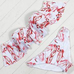 Nice Print Bikini Set  #Bikini #Bikinis #Crochet #TwoPiece #OnePiece #Underwear #Swimwear #LolitaBikinis #Thongs #Swimsuit