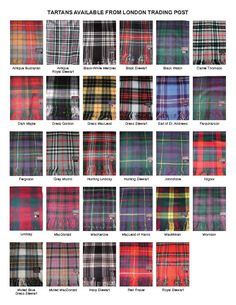 Tartans Available from the London Trading Post (including Blackwatch, the Clan Grant Hunting Tartan) Scottish Tartans, Scottish Highlands, Scottish Plaid, Scotland History, Fashion Vocabulary, Men In Kilts, British Isles, Tartan Plaid, Family History