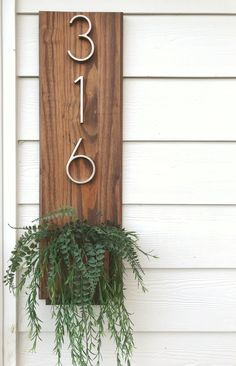 all things wooden to add to your home by thelostgypsyCo Planter Boxes, Planters, Vasos Vintage, Brown House, Wooden House, House Numbers, Home Projects, Home Remodeling, Diy Furniture