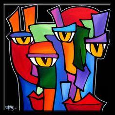 Survivors Original Abstract painting Modern pop Art by fidostudio