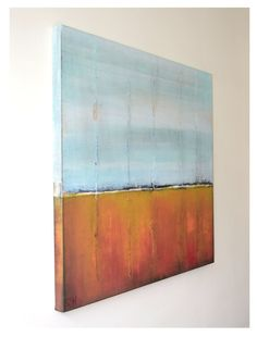 Original Abstract painting  Field with Blue Sky  door RonaldHunter, $319.00