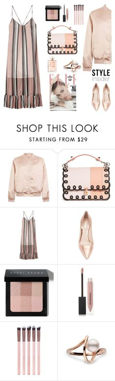 """""""Dress and bomber jacket."""" by gul07 ❤ liked on Polyvore featuring Cameo Rose, Fendi, Baum und Pferdgarten, Nicholas Kirkwood, Bobbi Brown Cosmetics and Burberry"""