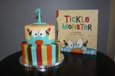 Tickle Monster book! What a cute cake!
