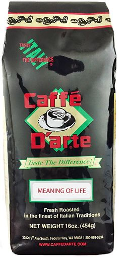 Caffe D'arte Gourmet Meaning of Life Whole Bean Coffee, 16-Ounce Foil Bags (Pack of 2) => Awesome product. Click the image : Fresh Groceries