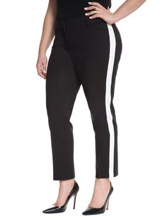Side Stripe Kady Pant | Women's Plus Size Pants + Jeans | ELOQUII