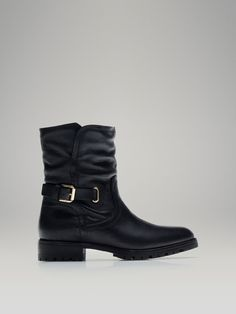 Fur Ankle Boot by Massimo Dutti