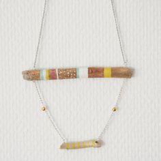 Wood connected necklace IIII