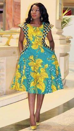 Ankara dress styles to try out - DarlingNaija African Fashion Ankara, Latest African Fashion Dresses, African Print Fashion, Africa Fashion, Short African Dresses, African Print Dresses, African Print Dress Designs, Traditional African Clothing, Ankara Dress Styles