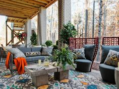 Pictures of the HGTV Smart Home 2016 Covered Porch >> http://www.hgtv.com/design/hgtv-smart-home/2016/covered-porch-pictures-from-hgtv-smart-home-2016-pictures?soc=pinterest