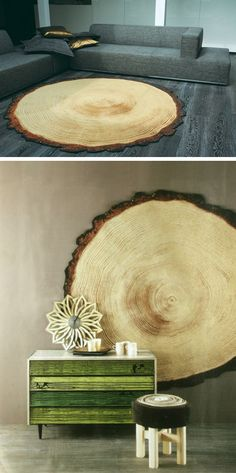 Cross sectional tree rug