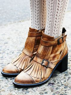 at free people Circle Back Heel Boot - tan