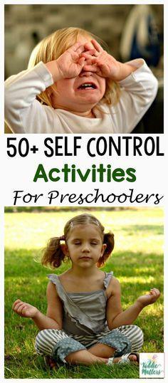 Preschool Self Control Activities