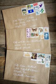 calligraphy + interesting stamps