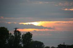 Sunset over Middleport, NY