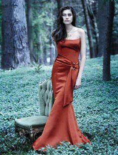 Burnt Orange Bridesmaid Dress  Orange Dress #2dayslook #watsonlucy723 #OrangeDress  www.2dayslook.com