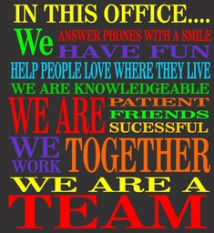 The ONLY way to have a very productive and fun place to work is to make it that way. Take some time to identify goals and congratulate teammates on accomplishments. When you work as a team you re… Inspirational Teamwork Quotes, Positive Quotes, Motivational Quotes, Happy Quotes, Super Soul Sunday, Robert Kiyosaki, Bill Gates, Steve Jobs, Team Building