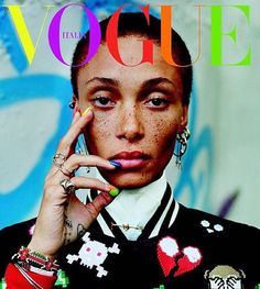 """Model On Her Radar - """"I think Adwoa Aboah is beautiful and very inspiring. Cindy Crawford Daughter, Fashion Magazine Cover, Magazine Covers, Fashion Bible, Winnie Harlow, Freckle Face, The Zoe Report, British Fashion Awards, Interesting Faces"""