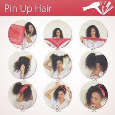 Pin Up Hair Style