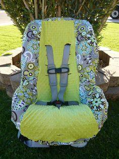 Splendid Paisley with APPLE Infant Car Seat Cover. $60.00, via Etsy.