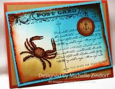 By The Seashore – Stampin' Up! Card created by Michelle Zindorf