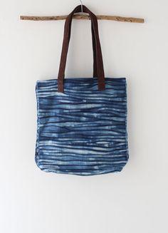 Shibori dye handbag Natural Indigo dye handbag with by bySanz