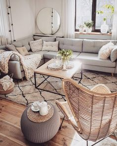 Wonderful Neutral Living Room Design Ideas To Try Contemporary living room design is known to have clean lines in the design of its furniture pieces, as well as […] College Living Rooms, Living Room On A Budget, Boho Living Room, Apartment Living, Home And Living, Small Living, Modern Living, Apartment Interior, Budget Bedroom