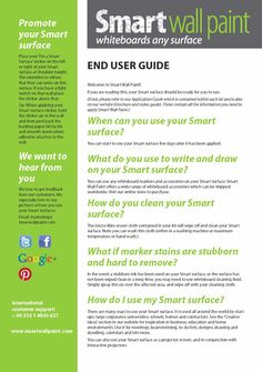 Smarter Surfaces End User Guide Image