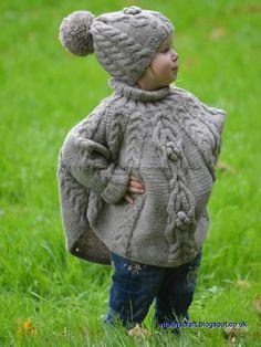 (6) Name: 'Knitting : Temptation Poncho and Hat Set