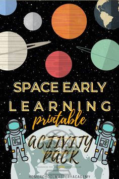 Space printable pack for early learners! #space #sciencecurriculum #homeschool #homeschool #elementary #preschool Homeschool Curriculum Reviews, Science Curriculum, Homeschool High School, Homeschool Kindergarten, Preschool, Planets Activities, Early Learning, Space Printables, Raw Gemstones