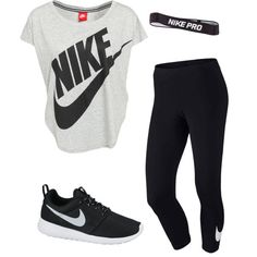 Workout by halliec on Polyvore featuring polyvore, fashion, style and NIKE