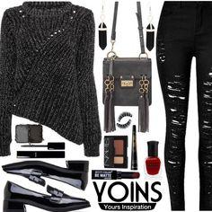 YOINS - Sweater Weather by deborah-calton on Polyvore featuring мода, NARS Cosmetics, Guerlain, Deborah Lippmann, Chanel, City Color, yoins, yoinscollection and loveyoins