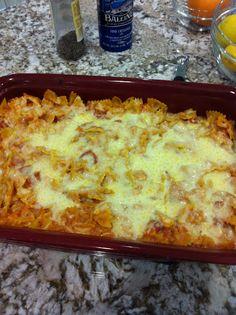 Paula Deen's Italian Chicken-and-Pasta bake. So good!